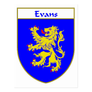 Evans Coat of Arms/Family Crest (Wales) Postcard