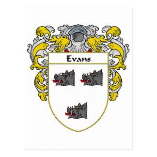 Evans Coat of Arms Ireland (Mantled) Postcard