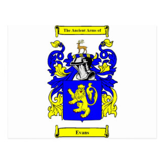 Evans Coat of Arms Postcard