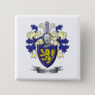 Evans Family Crest Coat of Arms 15 Cm Square Badge