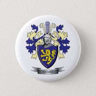 Evans Family Crest Coat of Arms 6 Cm Round Badge