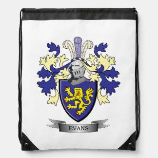 Evans Family Crest Coat of Arms Drawstring Bag