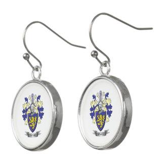 Evans Family Crest Coat of Arms Earrings