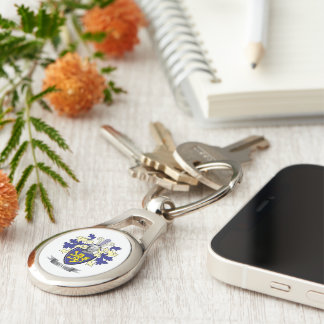 Evans Family Crest Coat of Arms Key Ring