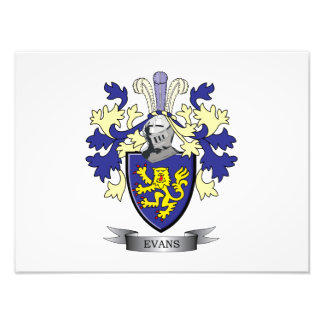 Evans Family Crest Coat of Arms Photograph