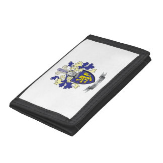 Evans Family Crest Coat of Arms Trifold Wallet