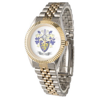 Evans Family Crest Coat of Arms Watches