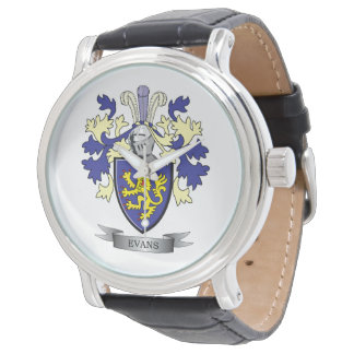 Evans Family Crest Coat of Arms Wrist Watch