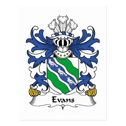 Evans Family Crest Post Cards