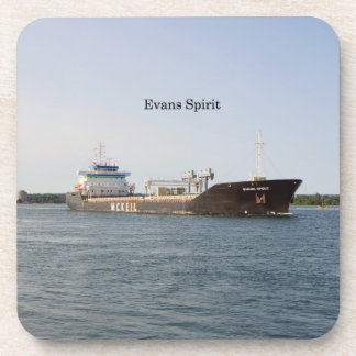 Evans Spirit set of 6 plastic coasters