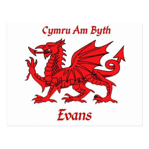 Evans Welsh Dragon Postcards
