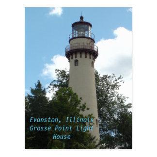 Evanston, Illinois  the Grosse Point Light House Postcard
