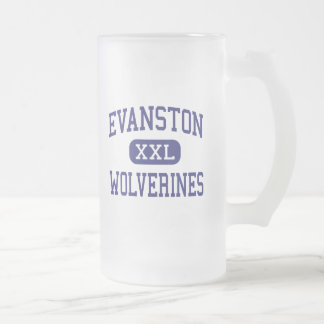 Evanston Wolverines Middle Evanston Wyoming Frosted Glass Beer Mug