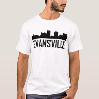 Evansville Indiana City Skyline T-Shirt
