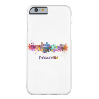Evansville skyline in watercolor barely there iPhone 6 case