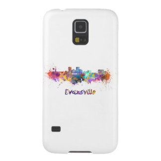 Evansville skyline in watercolor galaxy s5 cover