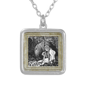 Eve In The Garden Silver Plated Necklace