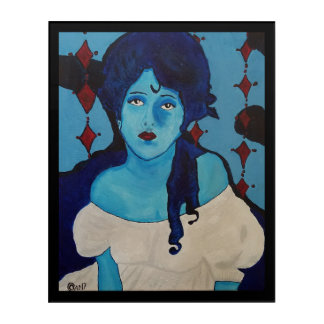 Evelyn Blue Acrylic Print