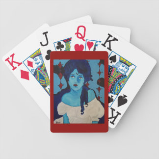 Evelyn Blue Bicycle Playing Cards