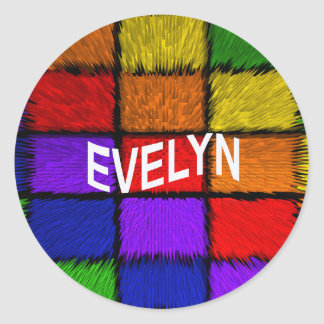 EVELYN CLASSIC ROUND STICKER