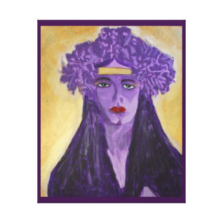 Evelyn Crowned Canvas Print