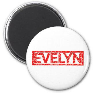 Evelyn Stamp 6 Cm Round Magnet