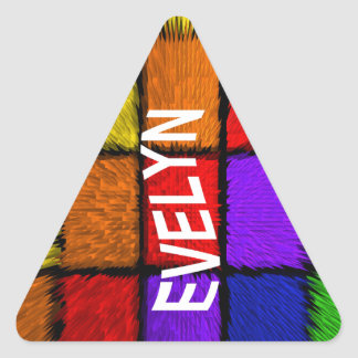 EVELYN TRIANGLE STICKER