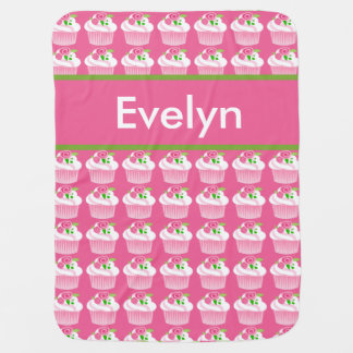 Evelyn's Personalized Cupcake Blanket