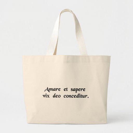 Even a god finds it hard to love and be wise...... canvas bag