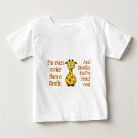 Even babies are cool; Cool as giraffes.