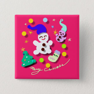 Even if in Christmas 15 Cm Square Badge