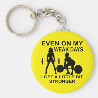 Even On My Weak Days I Get A Little Bit Stronger Basic Round Button Key Ring