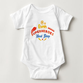 Even Superheroes Need Sleep Baby Bodysuit