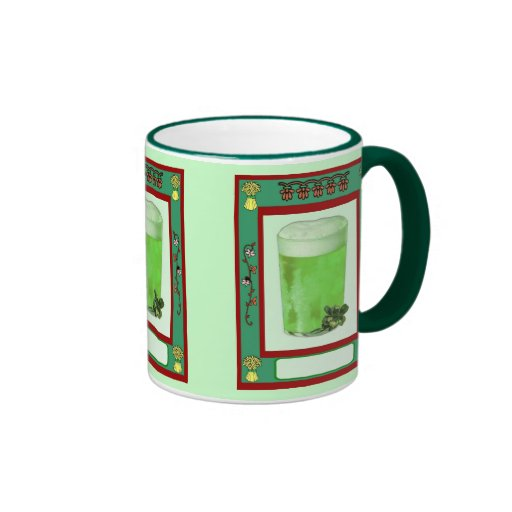 Even the beer is green on St Patrick's Day Mugs
