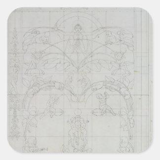 Evening, 1803 square sticker