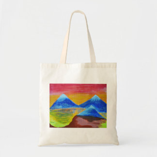 Evening acrylic painting tote bag