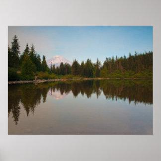 Evening At Mirror Lake Poster