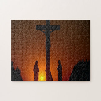 Evening At The Crucifixion Cross Jigsaw Puzzle