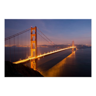 Evening at the Golden Gate Bridge print