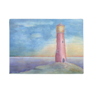 Evening at the lighthouse doormat