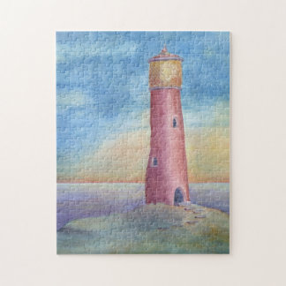 Evening at the lighthouse jigsaw puzzle
