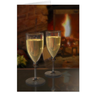 Evening By The Fire Greeting Card