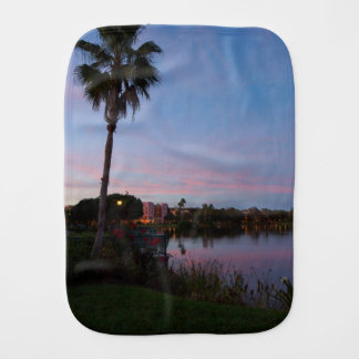 Evening By The Palm Tree Burp Cloth