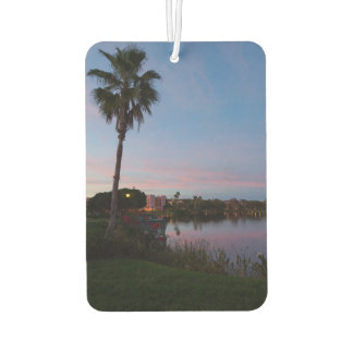 Evening By The Palm Tree Car Air Freshener