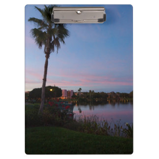 Evening By The Palm Tree Clipboard