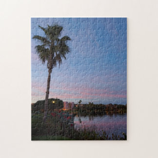 Evening By The Palm Tree Jigsaw Puzzle