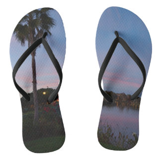Evening By The Palm Tree Thongs