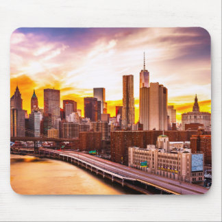 Evening City View Mouse Pad