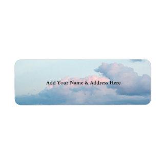 Evening Clouds Return Address Label