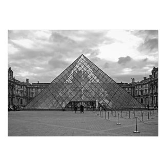 Evening. Entrance to the Louvre Museum Photo Print